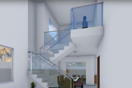 Projeto de casa com mezanino cod 98