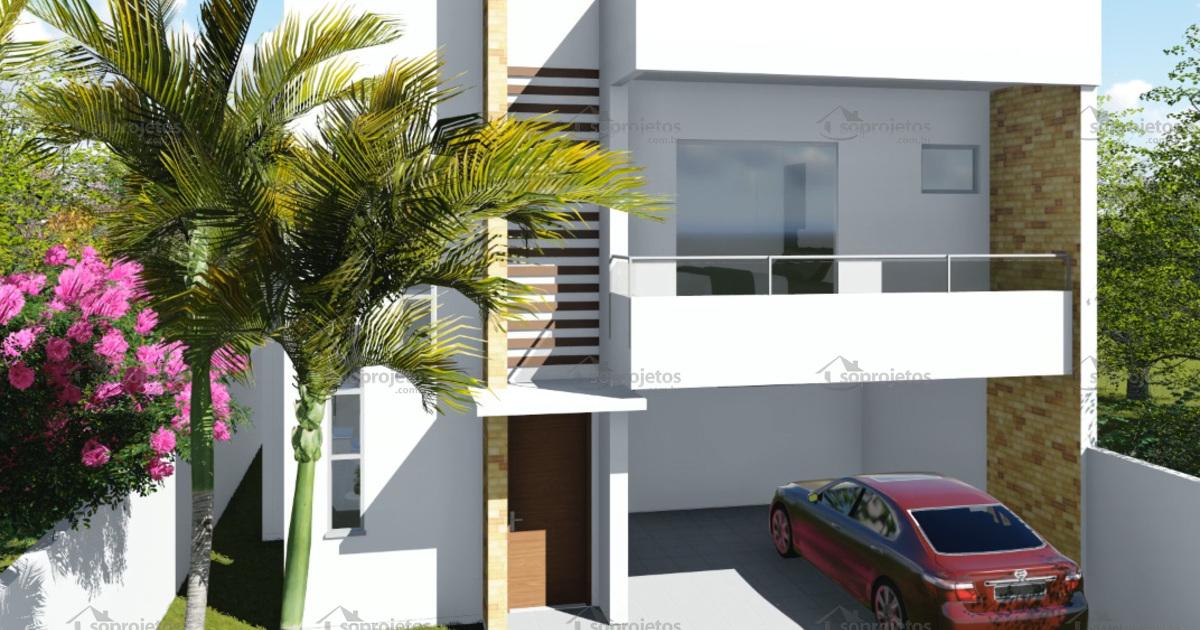 Planta de casa duplex 3 su tes com varanda gourmet s for Casa moderna 80m2