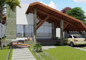 Projeto de casa Térrea com 3 quartos e área gourmet