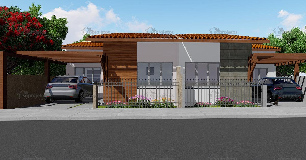 Plano de casa moderna good projeto planta casa trrea for Casa moderna autocad