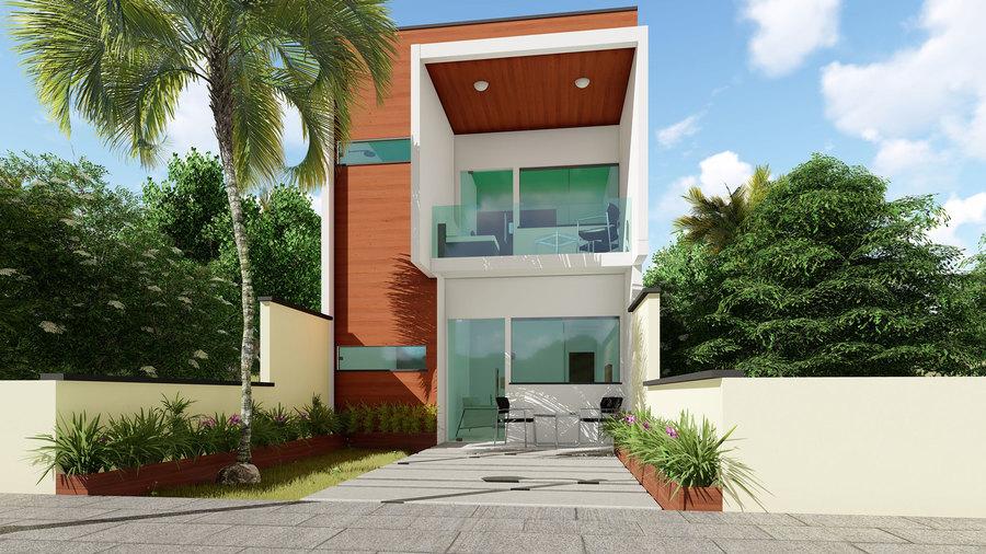 Plantas de casas pequenas s projetos blog for Casa moderna 2 andares 3 quartos