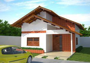 Projeto de casa popular com 80 m2
