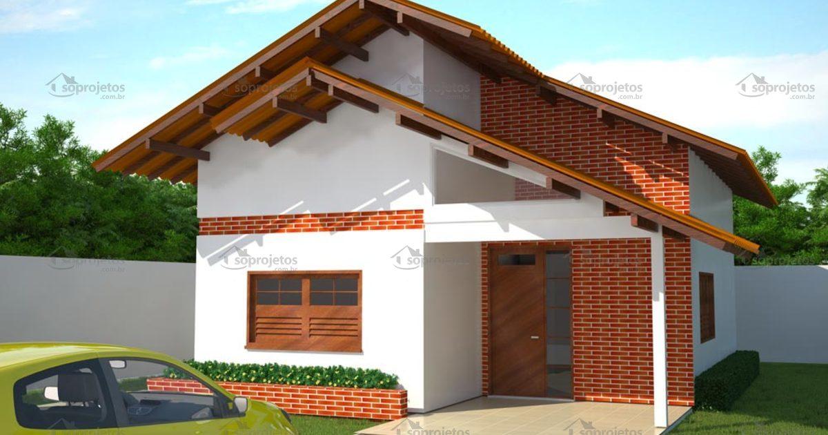 Projeto de casa popular com 80 m2 c d 66 s projetos for Casa popular