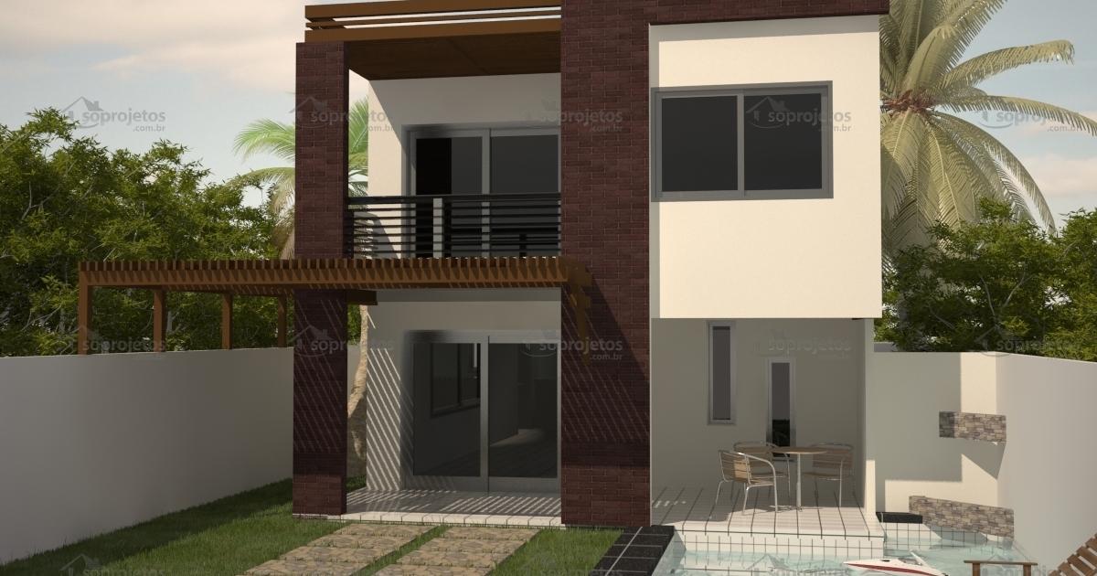 Sobrado com 3 quartos c d 86 s projetos for Casas modernas futuristas