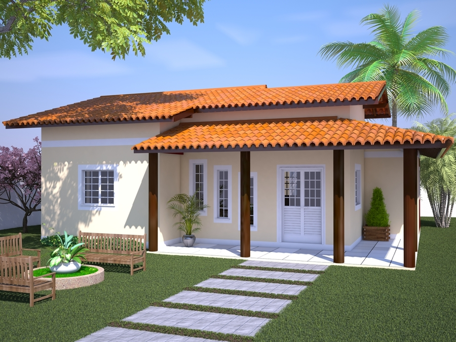 Casa com Varanda e 3 Quartos