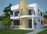 Cod 93 modelo de casa frente sobrado moderno