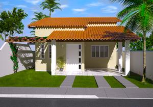 Casa Térrea para terreno 10 por 20 metros