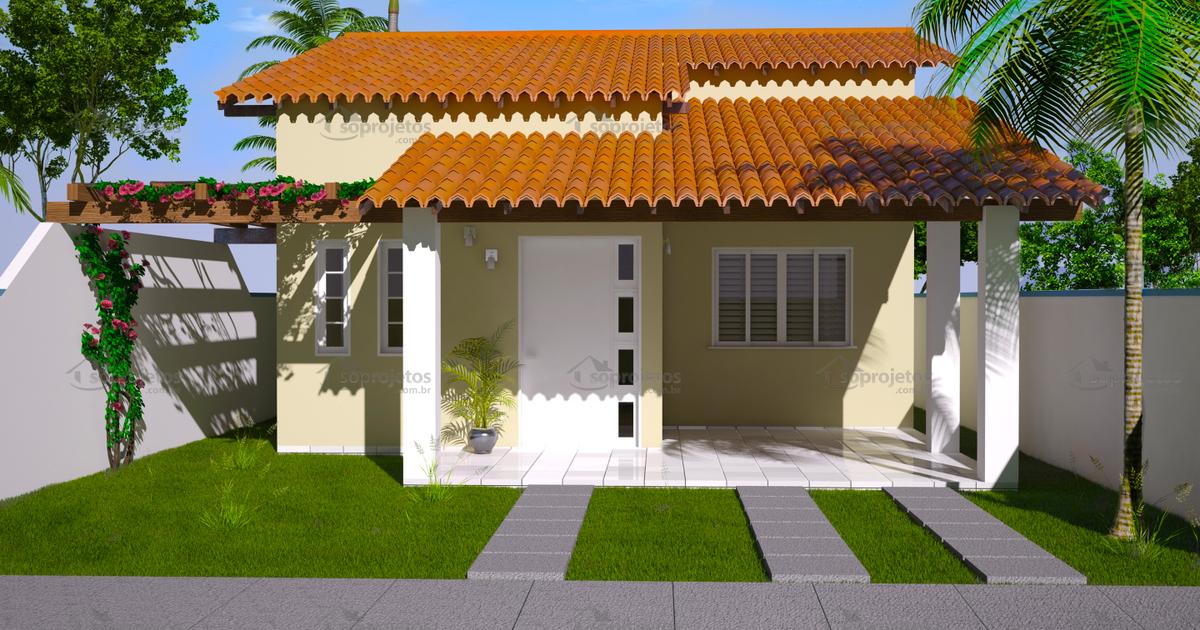 Casa t rrea para terreno 10 por 20 metros c d 94 s for Modelos de patios de casas pequenas