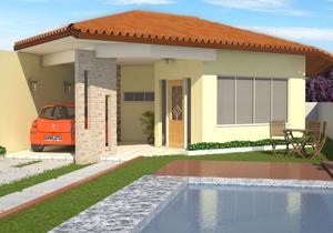 Modelo de Casa Térrea com 3 Quartos