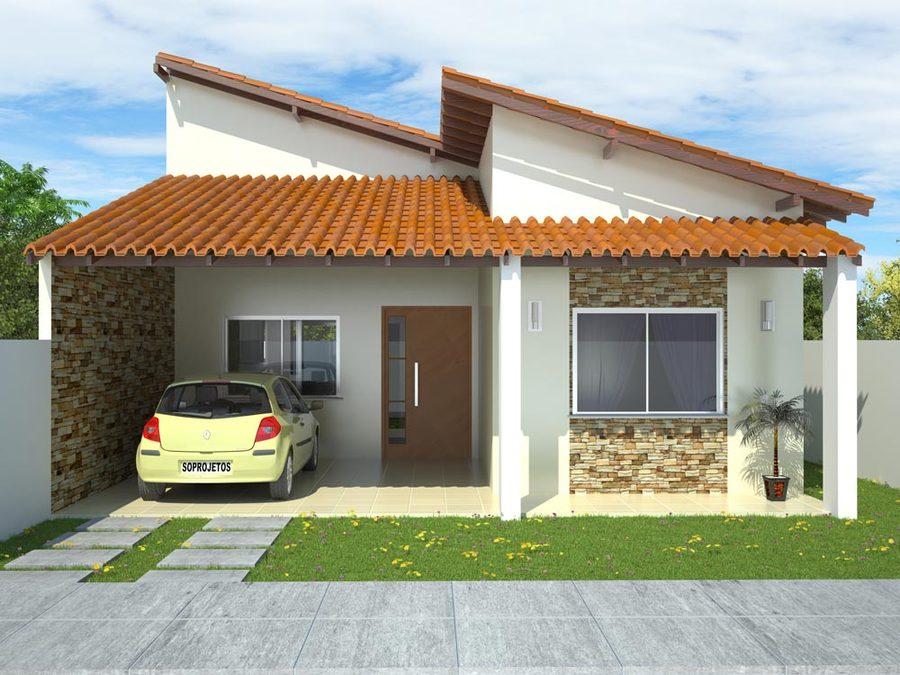 Projeto de Casa 2 Suites + 1 Quarto