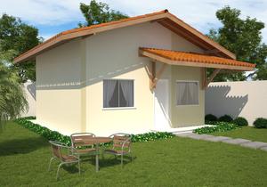 Planta de Casa Popular com 46 m2