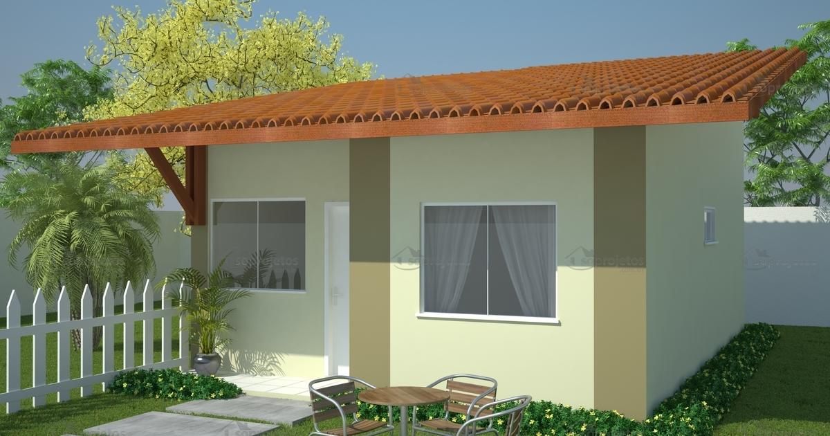 Projeto de casa popular econ mica c d 101 s projetos for Ver frentes de casas