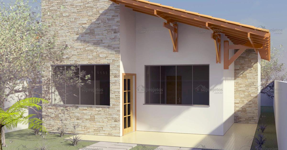 Planta de casa t rrea com 2 quartos para 10m de fr s for Distribucion de casas modernas