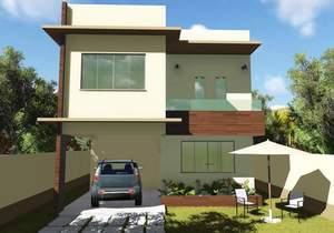 Versão do Projeto Cód. 123 com 3 quartos sendo 1 suite