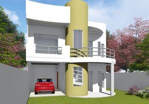 Versão do Projeto Cód. 93 com Garagem Interna