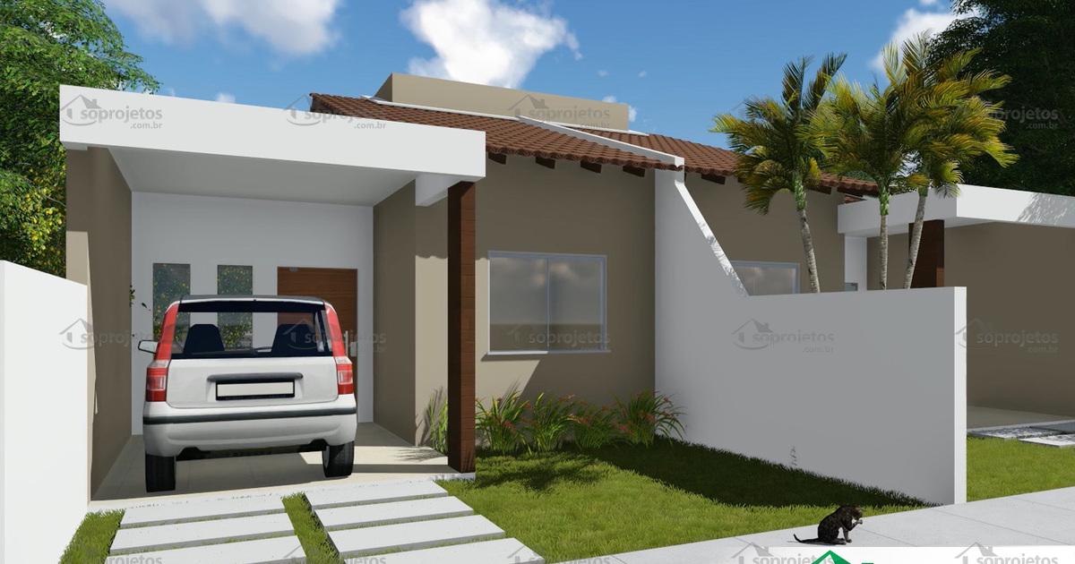 Projeto de casa t rrea geminada com 2 quartos c s for Modelo de casa x dentro