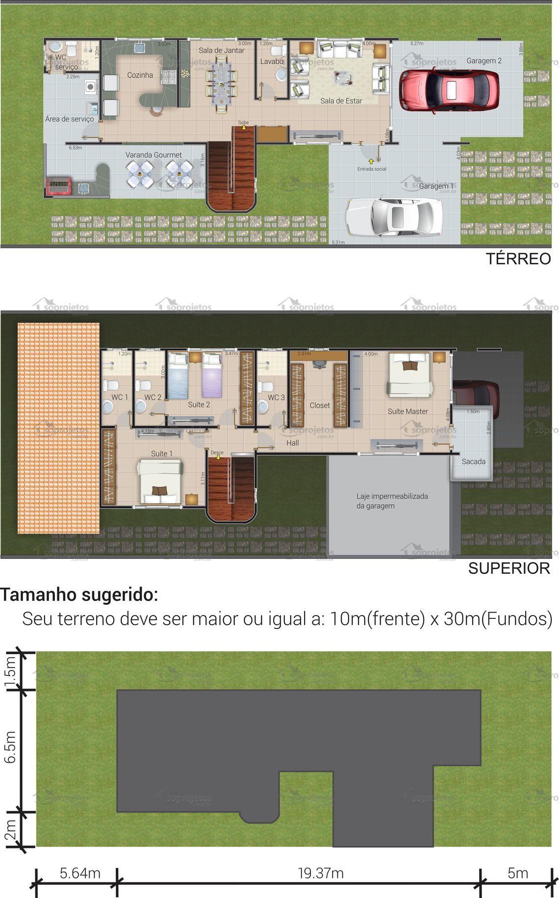 Planta De Sobrado Em L Cerrada Providencia Casas Rucer With Planta