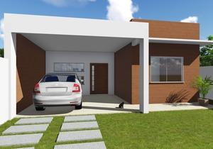 Modelo de Casa do Cód. 99 com Fachada Moderna