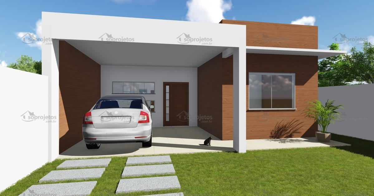 Modelo de casa do c d 99 com fachada moderna c s for Modelos de casas de una planta modernas